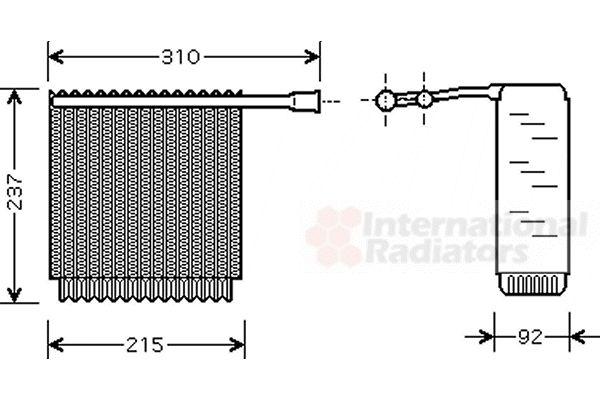 Evaporateur climatisation - VAN WEZEL - 5900V125