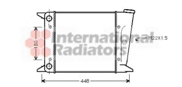Radiateur, refroidissement du moteur - VAN WEZEL - 58002001