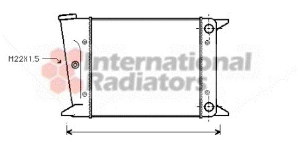 Radiateur, refroidissement du moteur - VAN WEZEL - 58002002