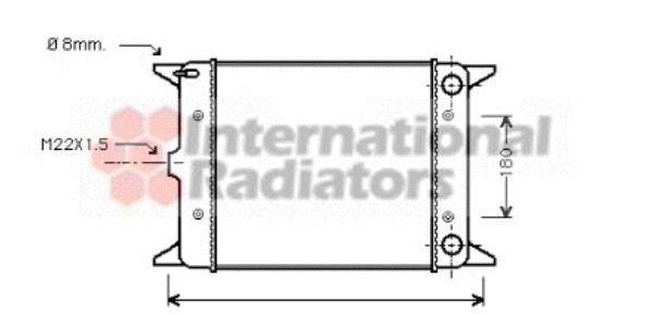Radiateur, refroidissement du moteur - VAN WEZEL - 58002003
