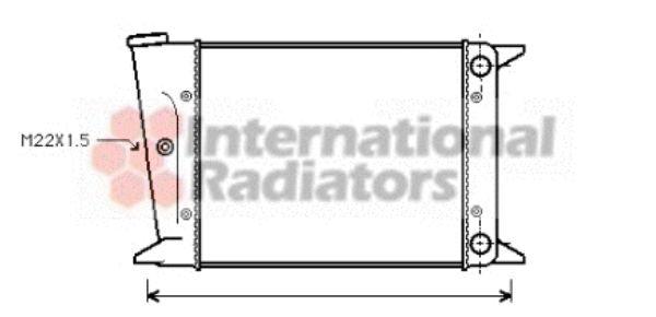 Radiateur, refroidissement du moteur - VAN WEZEL - 58002004