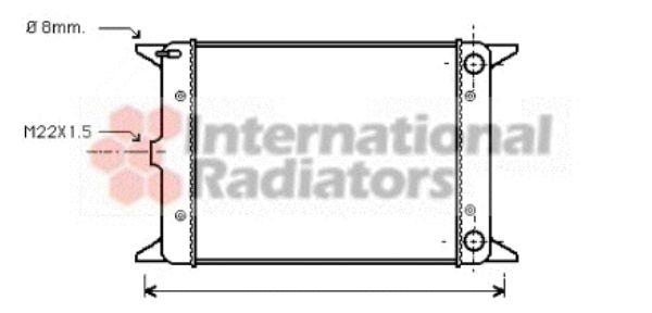 Radiateur, refroidissement du moteur - VAN WEZEL - 58002005