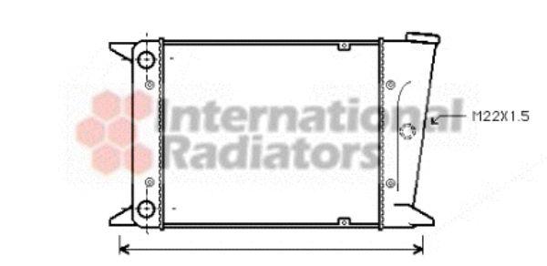 Radiateur, refroidissement du moteur - VAN WEZEL - 58002006