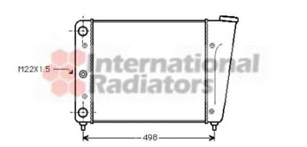 Radiateur, refroidissement du moteur - VAN WEZEL - 58002009