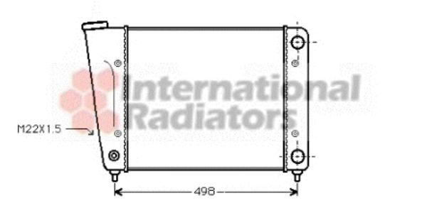 Radiateur, refroidissement du moteur - VAN WEZEL - 58002010