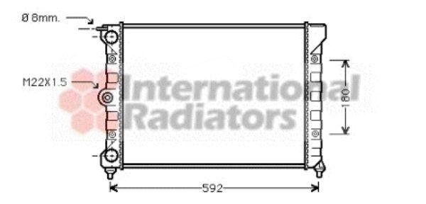 Radiateur, refroidissement du moteur - VAN WEZEL - 58002011