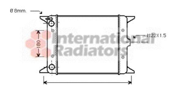 Radiateur, refroidissement du moteur - VAN WEZEL - 58002012