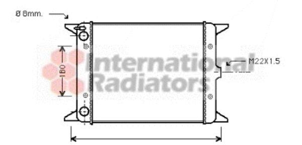 Radiateur, refroidissement du moteur - VAN WEZEL - 58002013