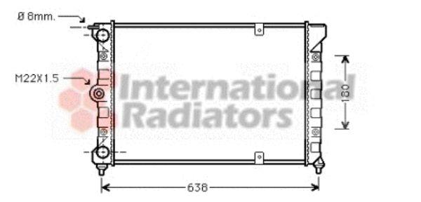 Radiateur, refroidissement du moteur - VAN WEZEL - 58002018