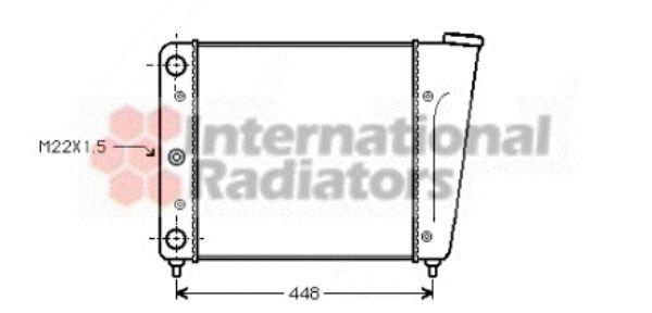 Radiateur, refroidissement du moteur - VAN WEZEL - 58002022
