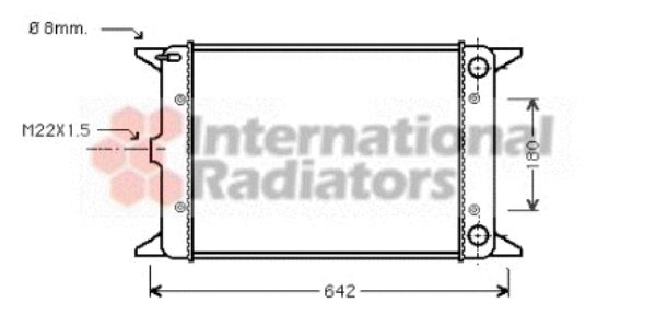 Radiateur, refroidissement du moteur - VAN WEZEL - 58002023