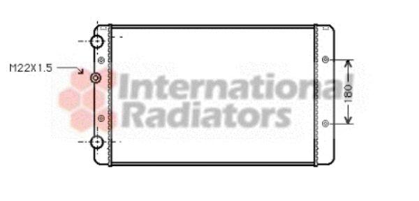 Radiateur, refroidissement du moteur - VAN WEZEL - 58002027