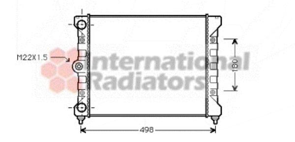 Radiateur, refroidissement du moteur - VAN WEZEL - 58002028