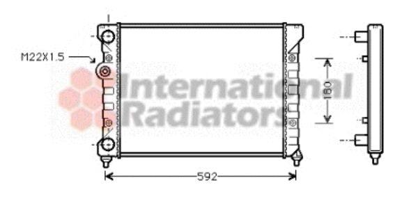 Radiateur, refroidissement du moteur - VAN WEZEL - 58002029