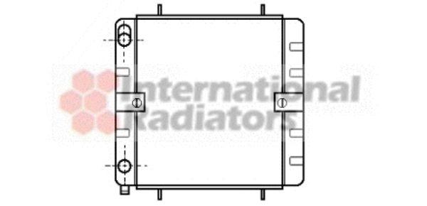 Radiateur, refroidissement du moteur - VAN WEZEL - 58002032