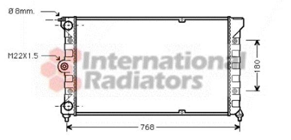 Radiateur, refroidissement du moteur - VWA - 88VWA58002036