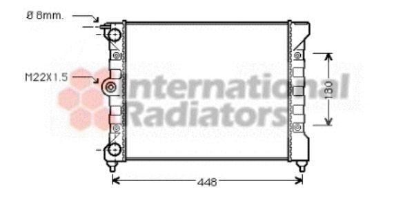 Radiateur, refroidissement du moteur - VAN WEZEL - 58002038