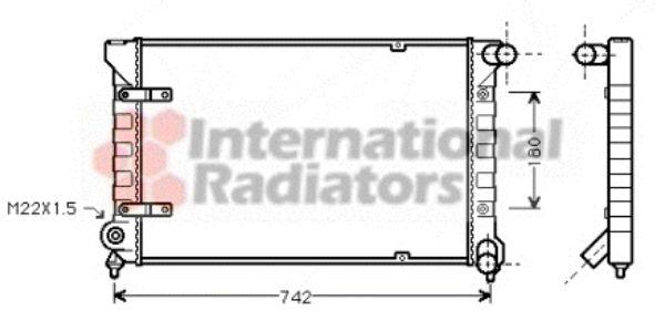 Radiateur, refroidissement du moteur - VAN WEZEL - 58002042
