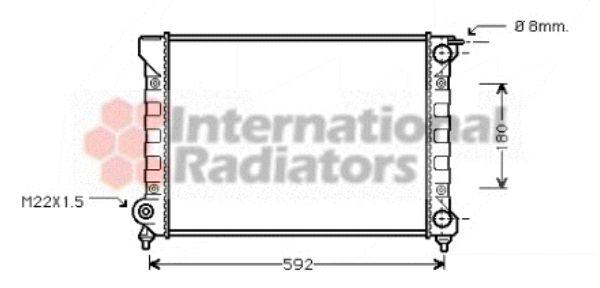 Radiateur, refroidissement du moteur - VAN WEZEL - 58002045