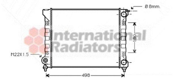 Radiateur, refroidissement du moteur - VAN WEZEL - 58002047