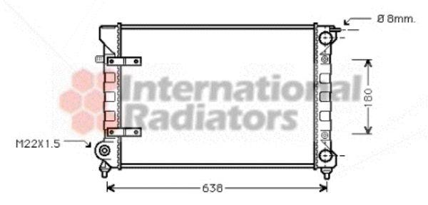 Radiateur, refroidissement du moteur - VAN WEZEL - 58002048