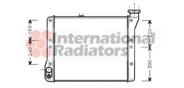 Radiateur, refroidissement du moteur - VAN WEZEL - 58002054