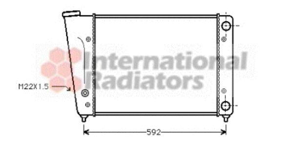 Radiateur, refroidissement du moteur - VAN WEZEL - 58002059