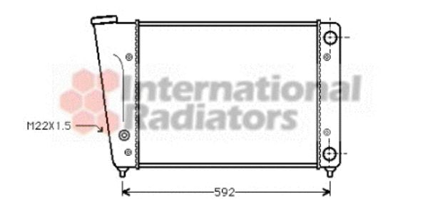 Radiateur, refroidissement du moteur - VWA - 88VWA58002059