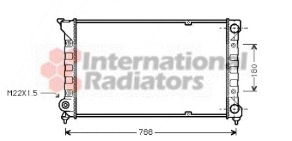 Radiateur, refroidissement du moteur - VAN WEZEL - 58002066