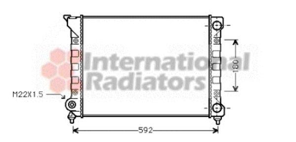 Radiateur, refroidissement du moteur - VAN WEZEL - 58002071
