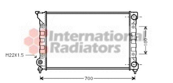 Radiateur, refroidissement du moteur - VAN WEZEL - 58002072
