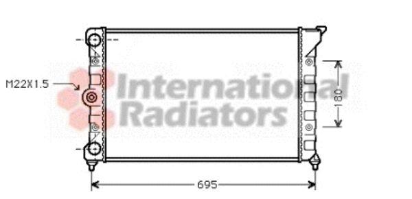 Radiateur, refroidissement du moteur - VAN WEZEL - 58002078