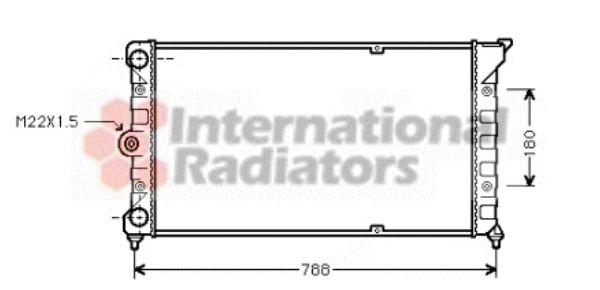 Radiateur, refroidissement du moteur - VAN WEZEL - 58002079