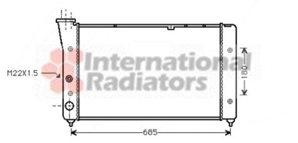 Radiateur, refroidissement du moteur - VAN WEZEL - 58002081