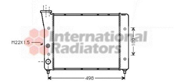 Radiateur, refroidissement du moteur - VAN WEZEL - 58002083