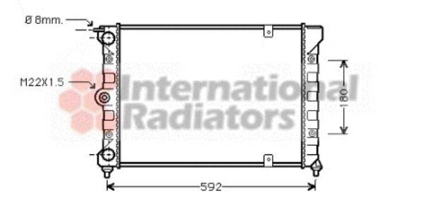 Radiateur, refroidissement du moteur - VAN WEZEL - 58002084