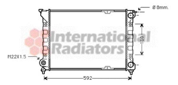 Radiateur, refroidissement du moteur - VAN WEZEL - 58002085
