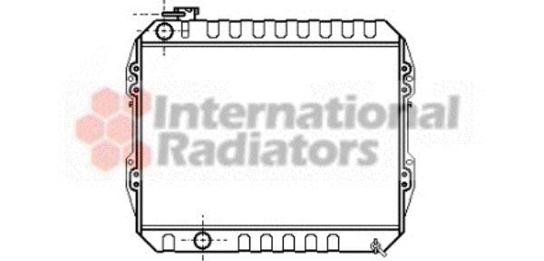 Radiateur, refroidissement du moteur - VAN WEZEL - 58002088