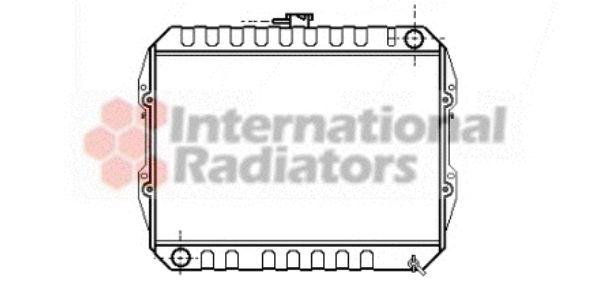 Radiateur, refroidissement du moteur - VAN WEZEL - 58002090