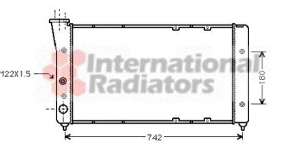 Radiateur, refroidissement du moteur - VAN WEZEL - 58002091