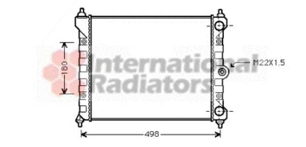 Radiateur, refroidissement du moteur - VAN WEZEL - 58002092