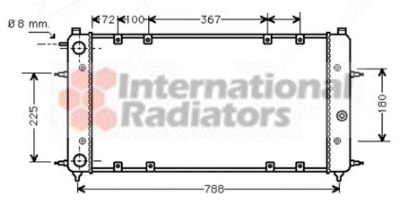 Radiateur, refroidissement du moteur - VAN WEZEL - 58002094