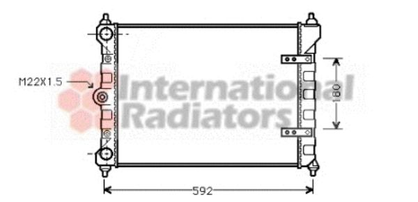 Radiateur, refroidissement du moteur - VAN WEZEL - 58002095