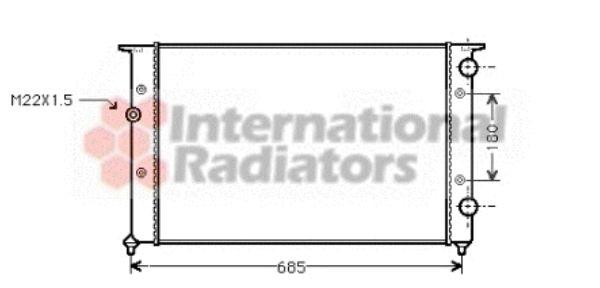 Radiateur, refroidissement du moteur - VAN WEZEL - 58002102