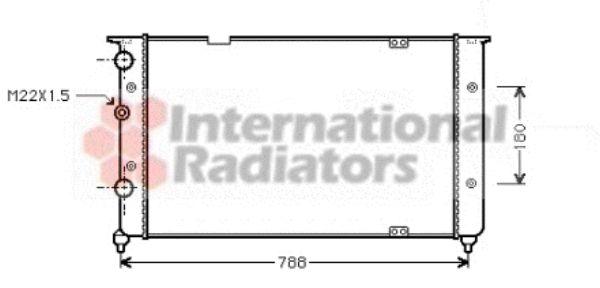 Radiateur, refroidissement du moteur - VAN WEZEL - 58002103