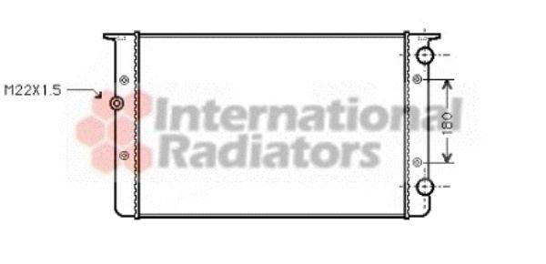 Radiateur, refroidissement du moteur - VAN WEZEL - 58002104