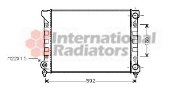Radiateur, refroidissement du moteur - VAN WEZEL - 58002111