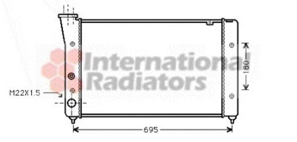Radiateur, refroidissement du moteur - VAN WEZEL - 58002112