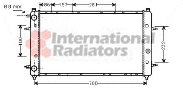 Radiateur, refroidissement du moteur - VAN WEZEL - 58002114