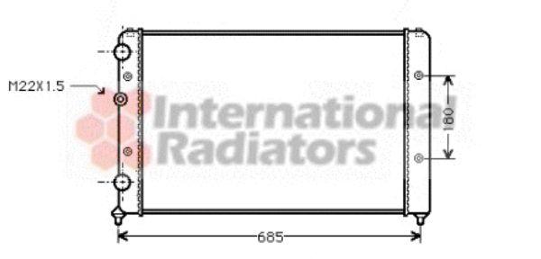 Radiateur, refroidissement du moteur - VAN WEZEL - 58002115